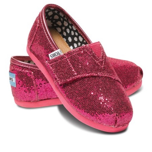 Toms Other - TOMS Hot Pink Glitter Classics - T2